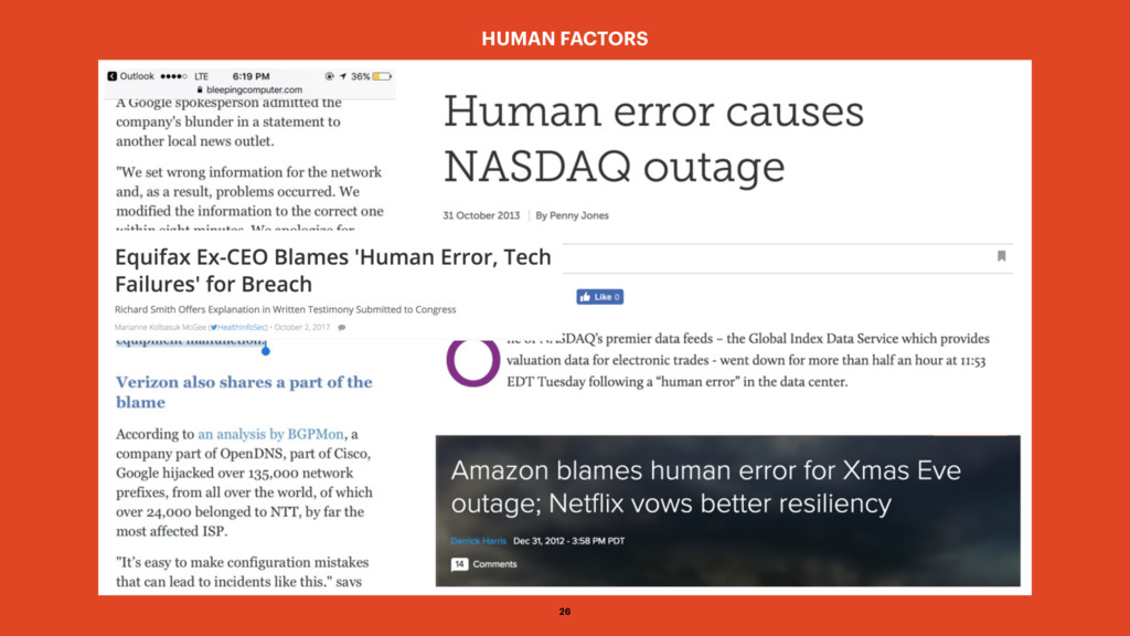 HUMAN FACTORS 26