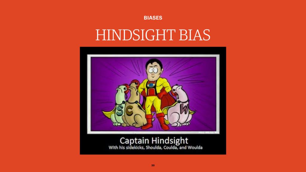 HINDSIGHT BIAS BIASES 30
