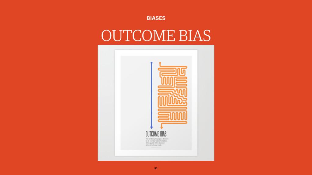 OUTCOME BIAS BIASES 31