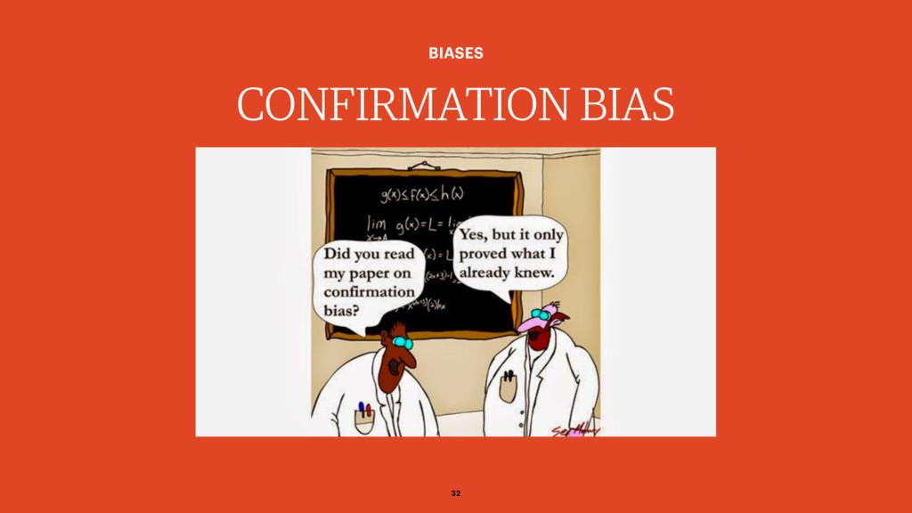CONFIRMATION BIAS BIASES 32