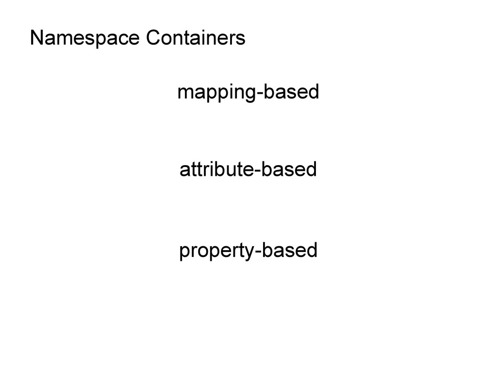 Namespace Containers mapping-based attribute-ba...