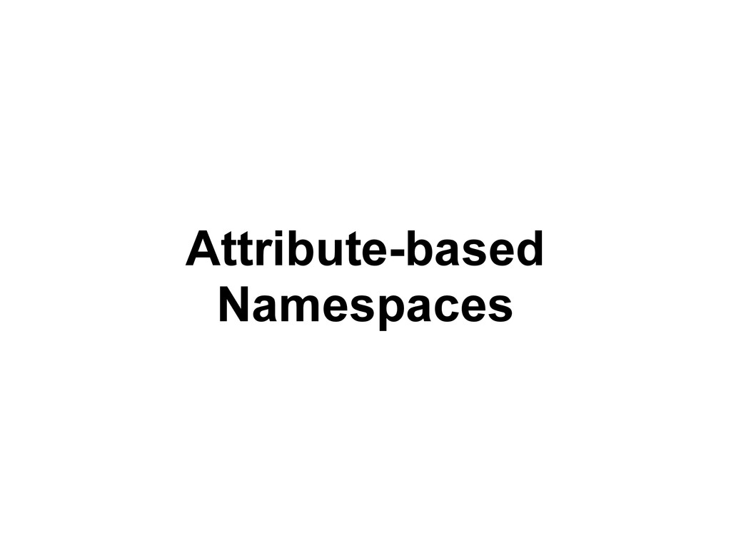 Attribute-based Namespaces
