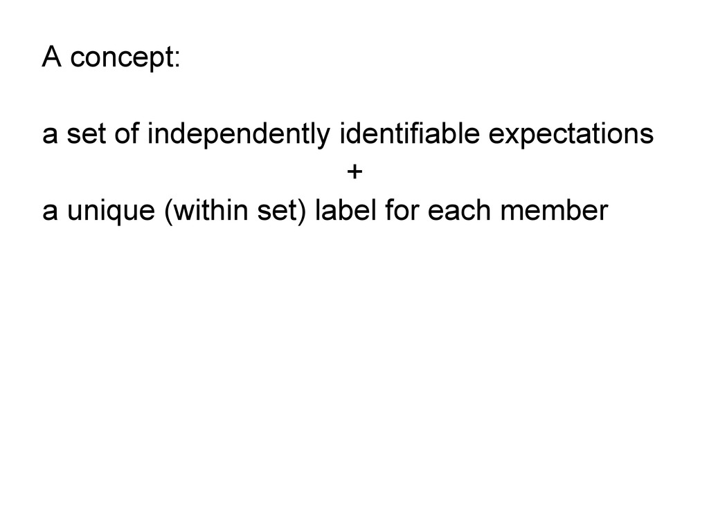 A concept: a set of independently identifiable ...