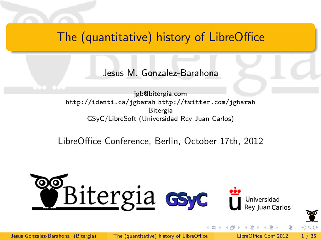 The (quantitative) history of LibreOffice Jesus M...