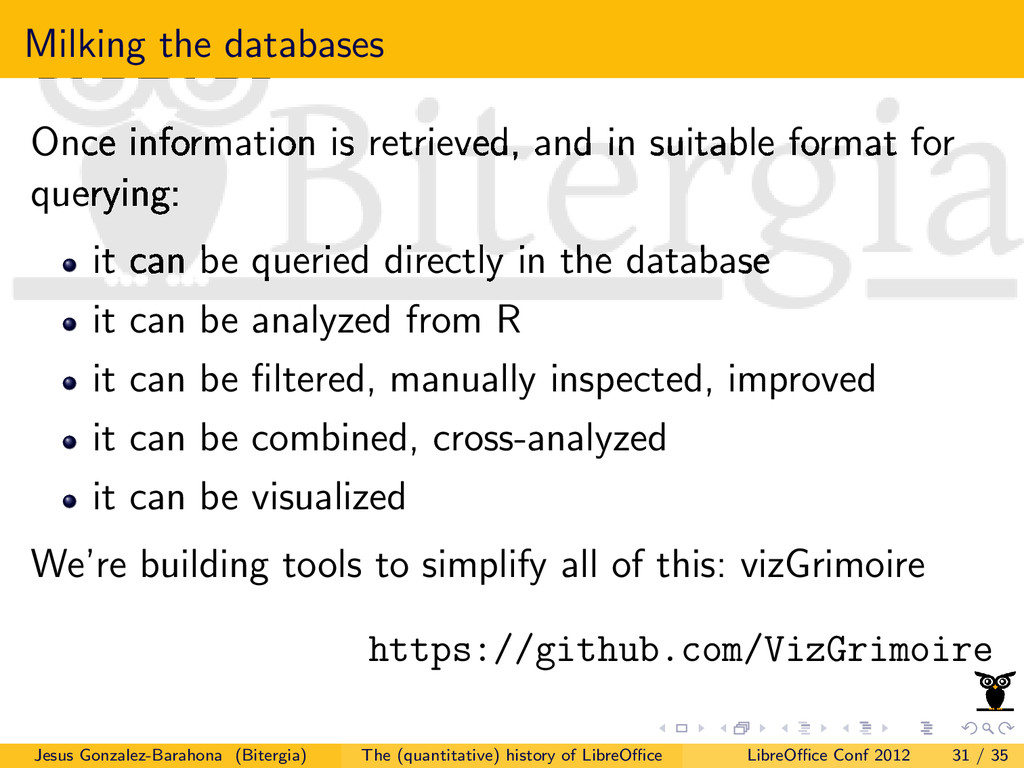 Milking the databases Once information is retri...