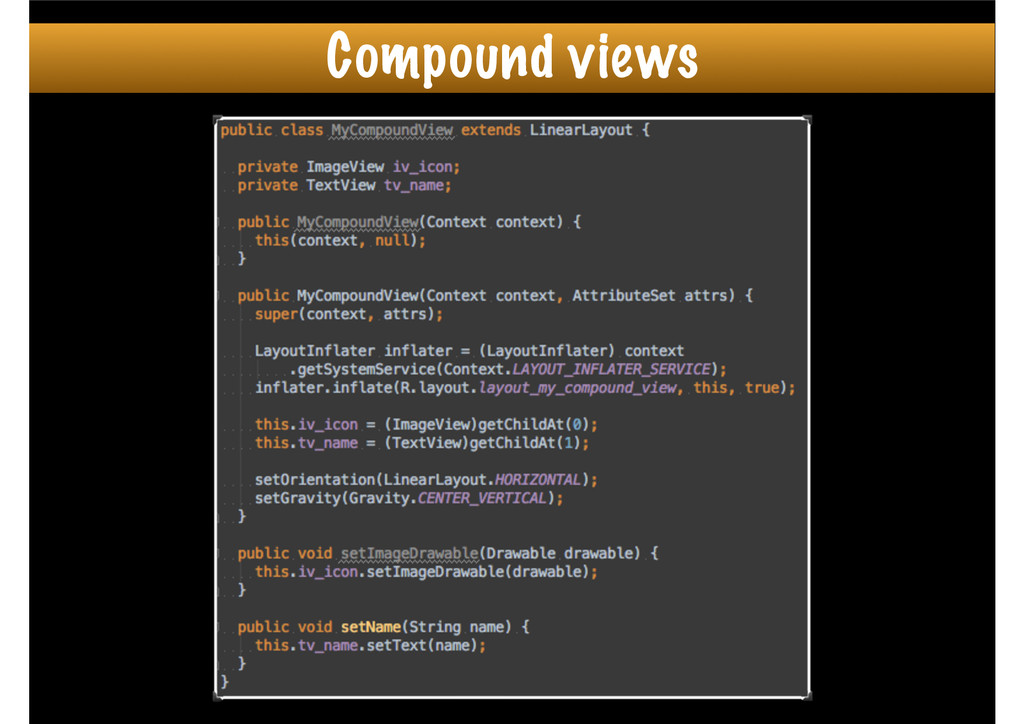 Compound views