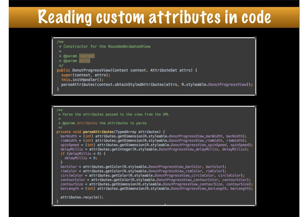 Reading custom attributes in code