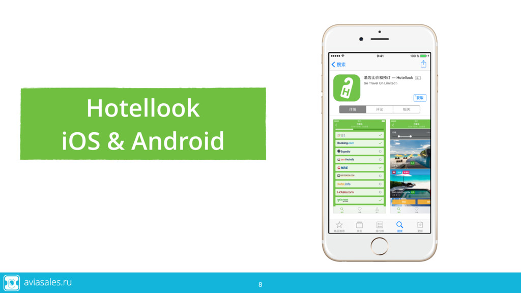 8 8 8 Hotellook iOS & Android