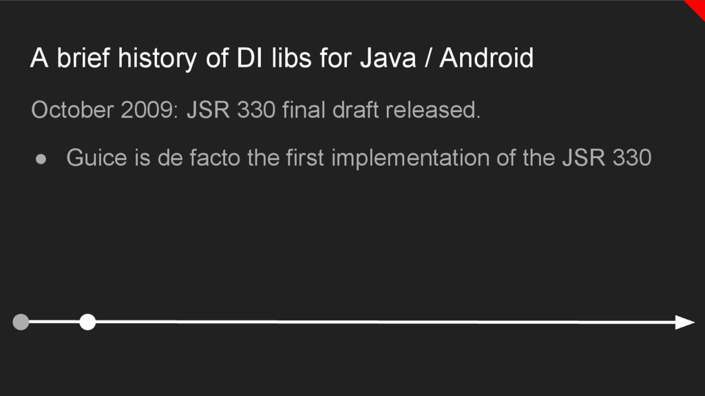 A brief history of DI libs for Java / Android O...