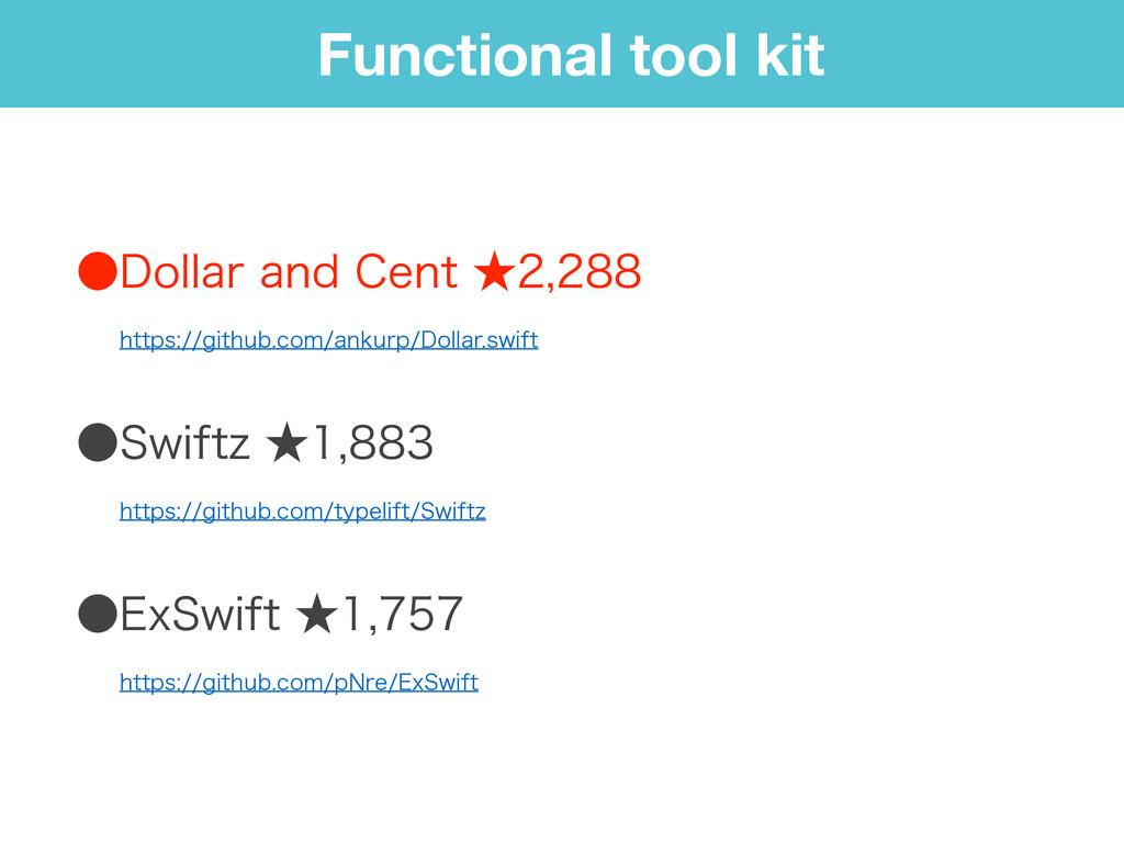 Functional tool kit ˔%PMMBSBOE$FOU˒ ɹɹ...