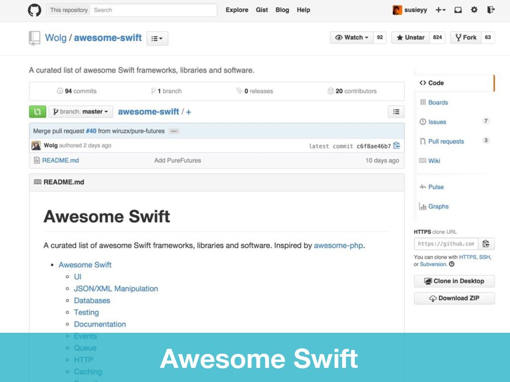 Awesome Swift