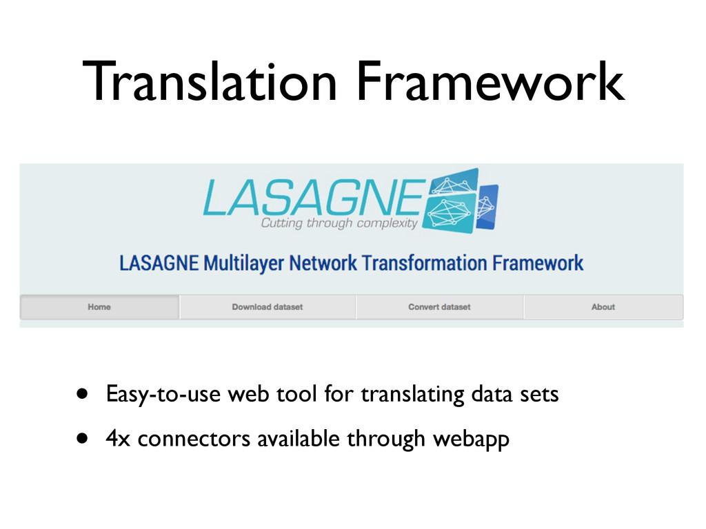 Translation Framework • Easy-to-use web tool fo...