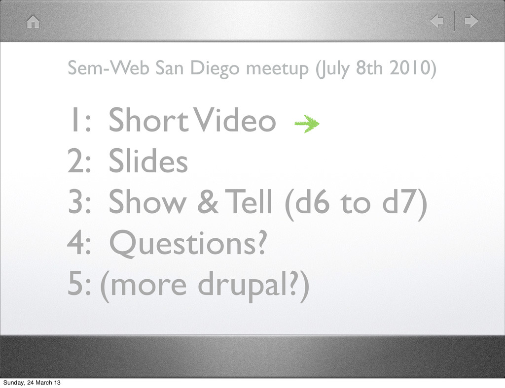 1: Short Video 2: Slides 3: Show & Tell (d6 to ...