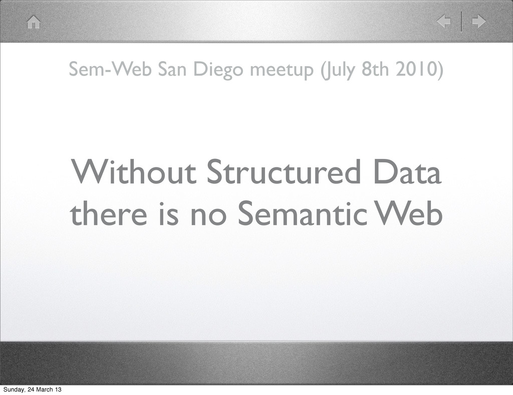 Without Structured Data there is no Semantic We...