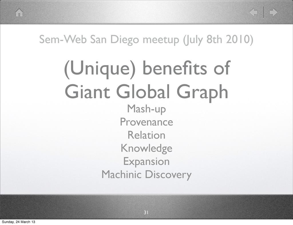 (Unique) benefits of Giant Global Graph Sem-Web ...