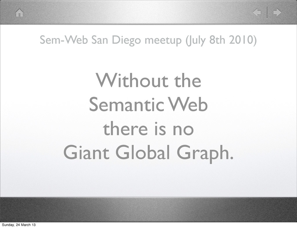 Without the Semantic Web there is no Giant Glob...