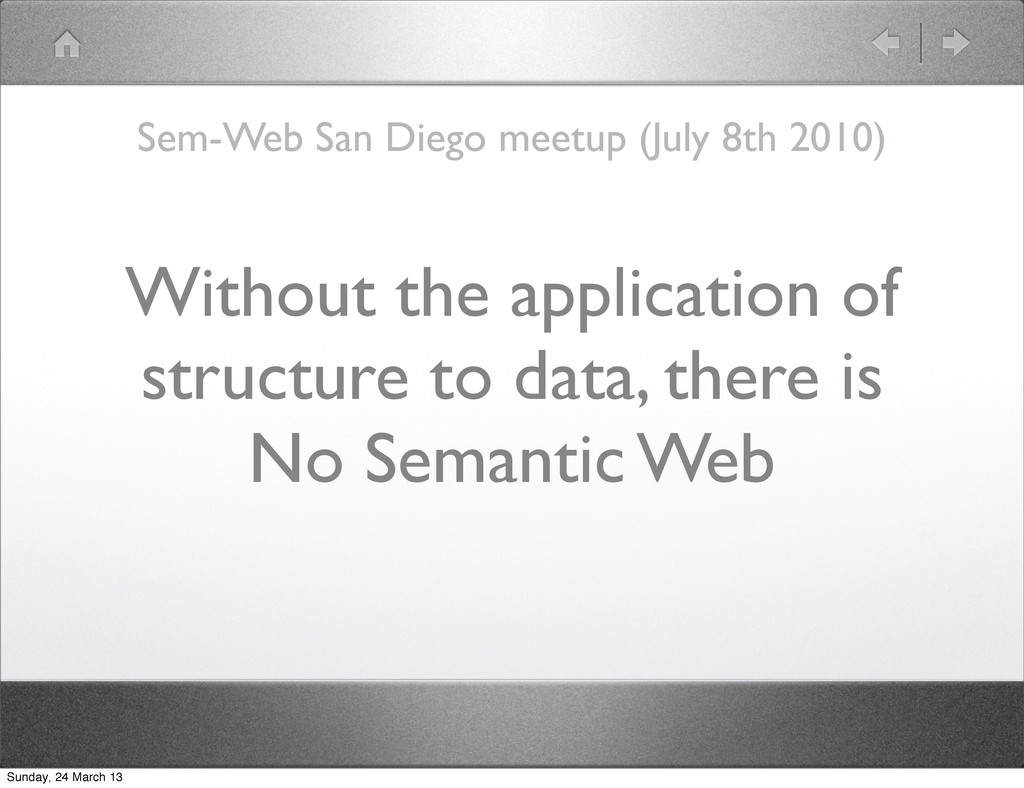 Without the application of structure to data, t...