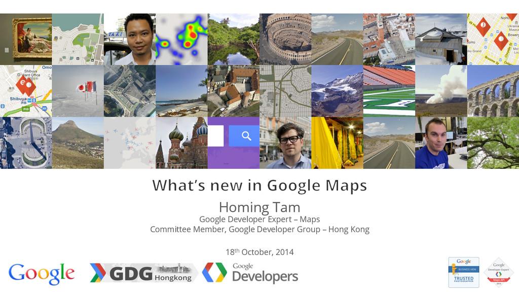 Homing Tam Google Developer Expert – Maps Commi...