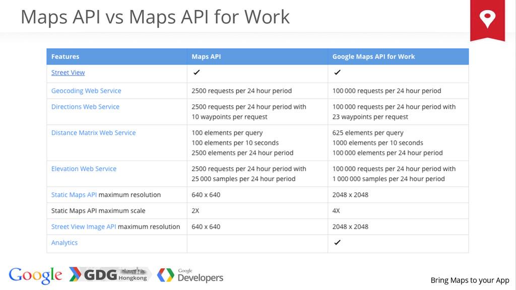 Bring Maps to your App Maps API vs Maps API for...