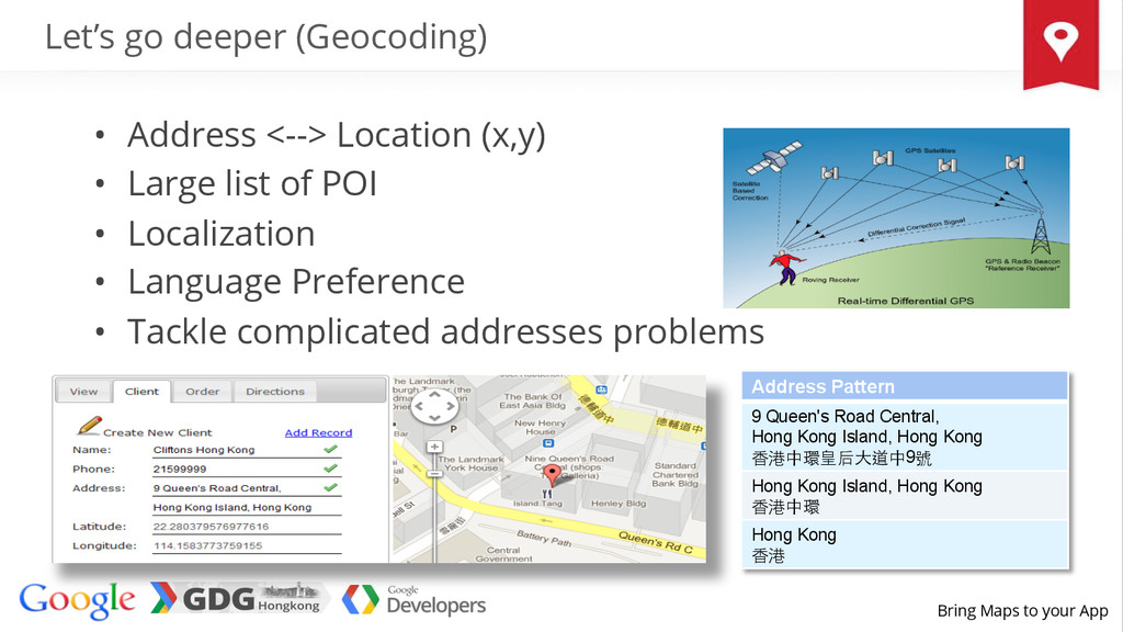 Bring Maps to your App Let's go deeper (Geocodi...