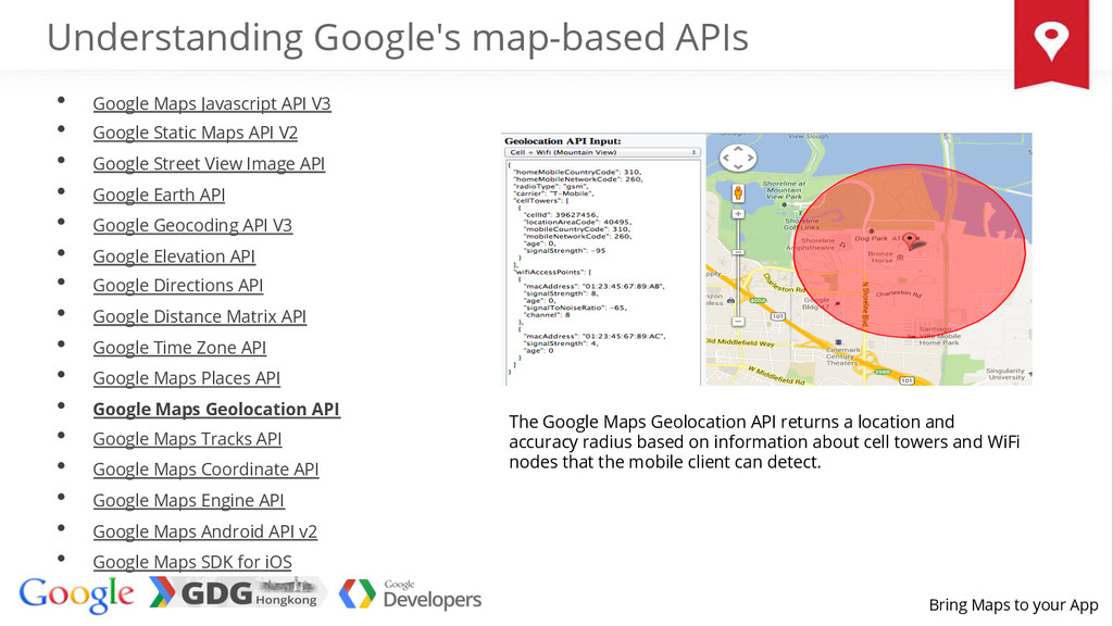 Bring Maps to your App The Google Maps Geolocat...