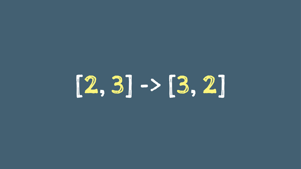 [2, 3] -> [3, 2]