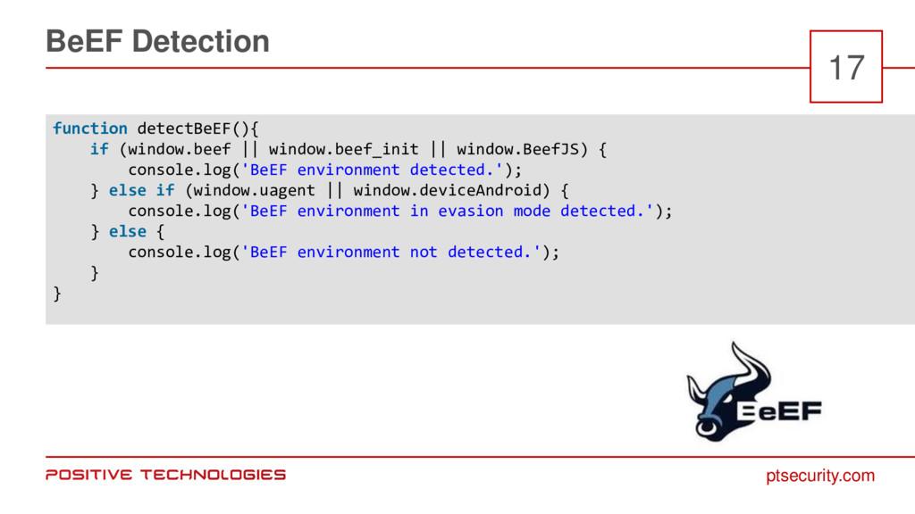 ptsecurity.com BeEF Detection 17 function detec...