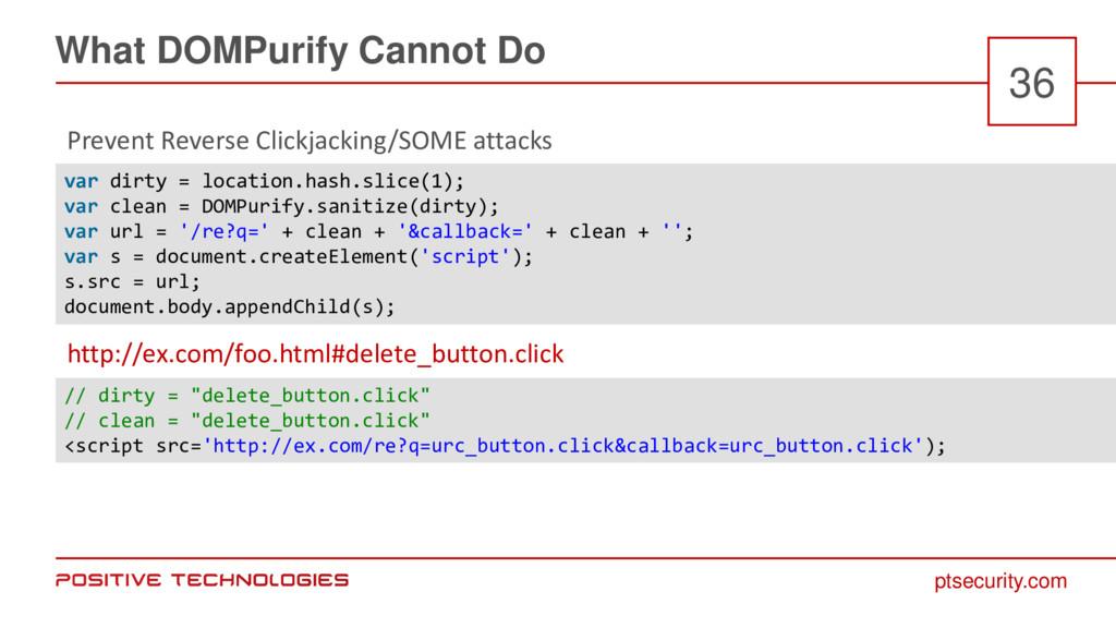 ptsecurity.com What DOMPurify Cannot Do 36 Prev...