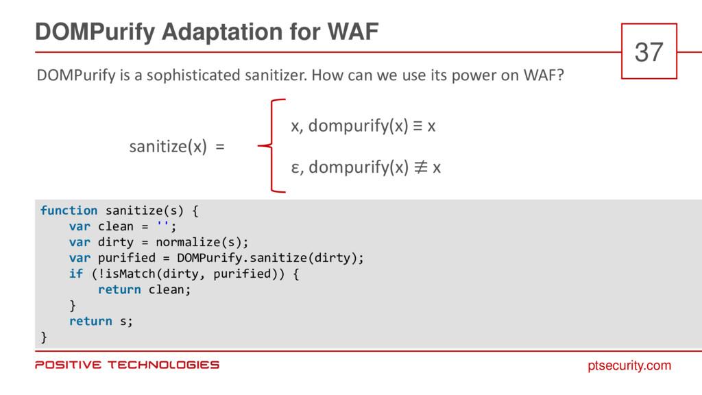 ptsecurity.com DOMPurify Adaptation for WAF 37 ...
