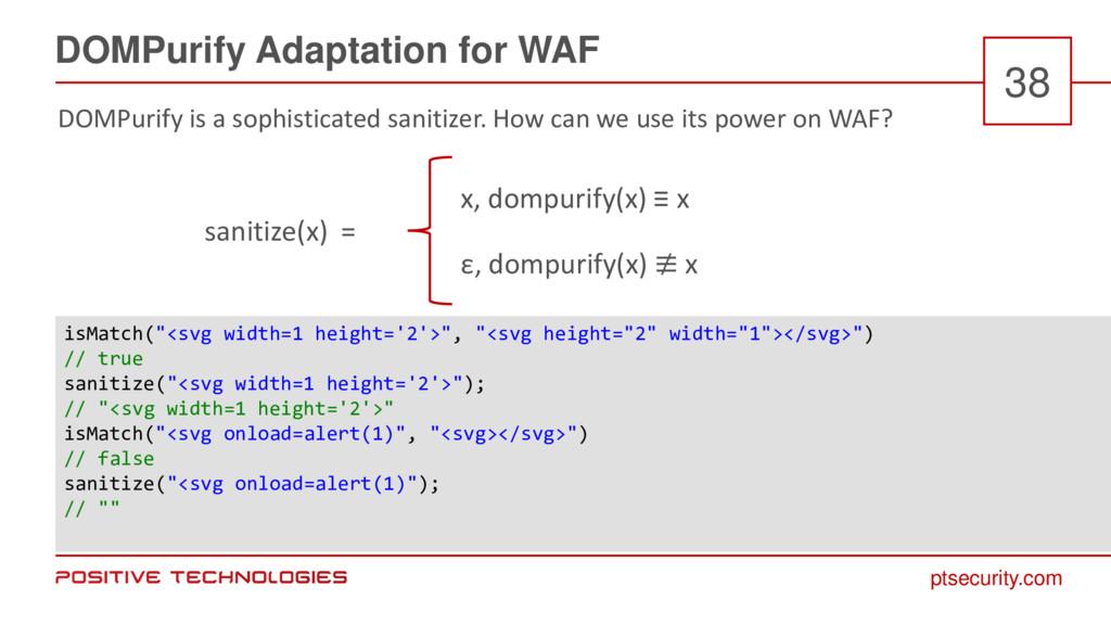 ptsecurity.com DOMPurify Adaptation for WAF 38 ...