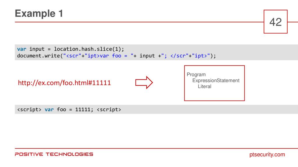 ptsecurity.com Example 1 42 http://ex.com/foo.h...