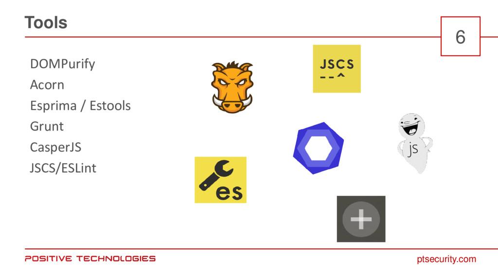 ptsecurity.com Tools 6 DOMPurify Acorn Esprima ...