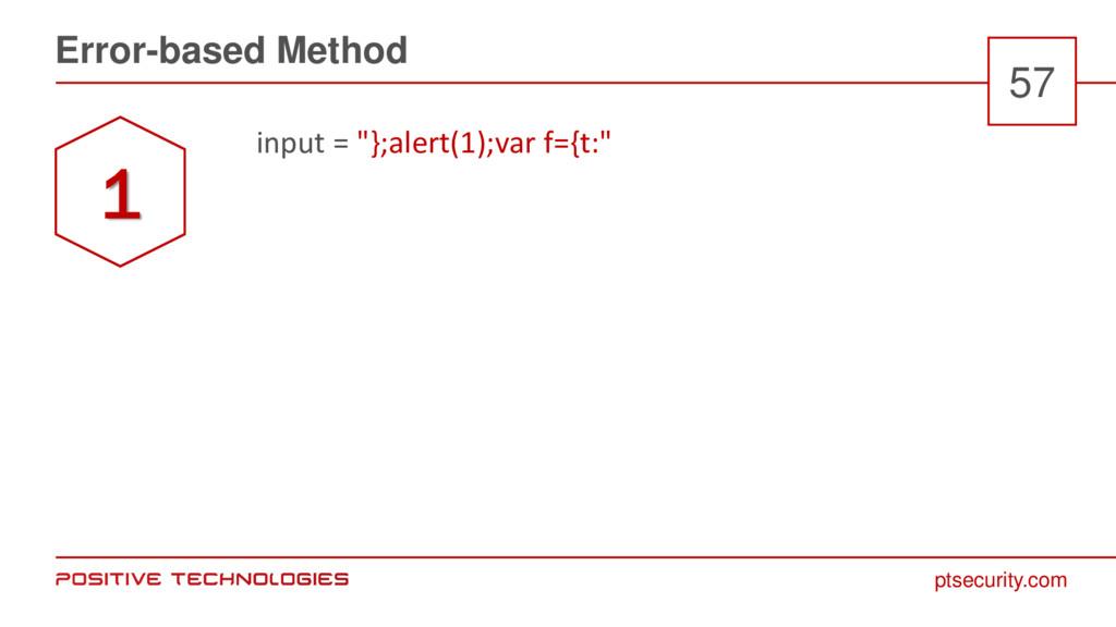 """ptsecurity.com Error-based Method 57 input = """"}..."""