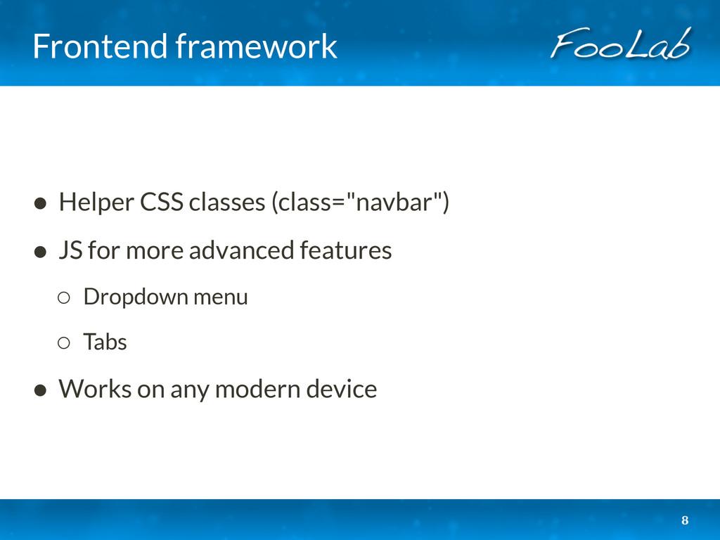 Frontend framework • Helper CSS classes (class=...