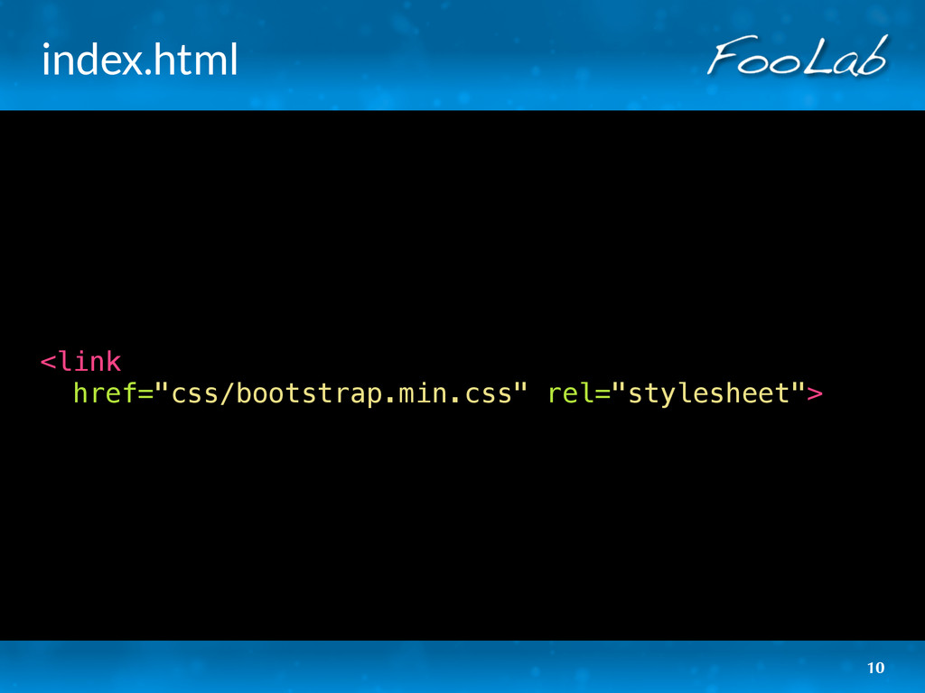 "index.html <link href=""css/bootstrap.min.css"" r..."