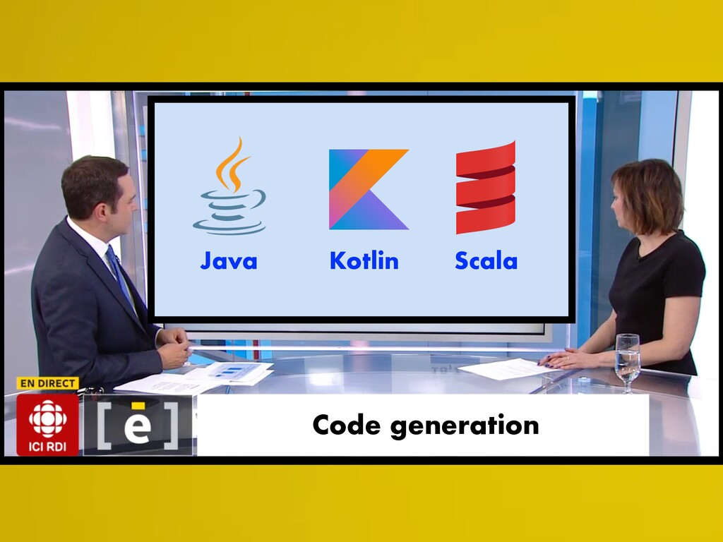 Code generation Java Kotlin Scala