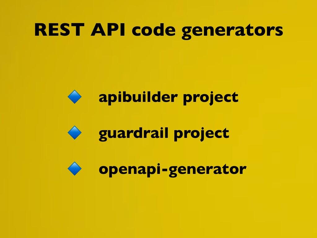 REST API code generators apibuilder project gua...