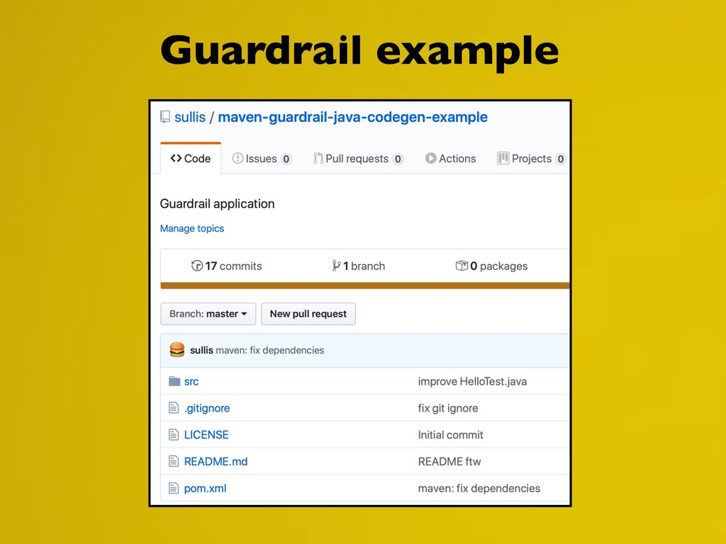 Guardrail example