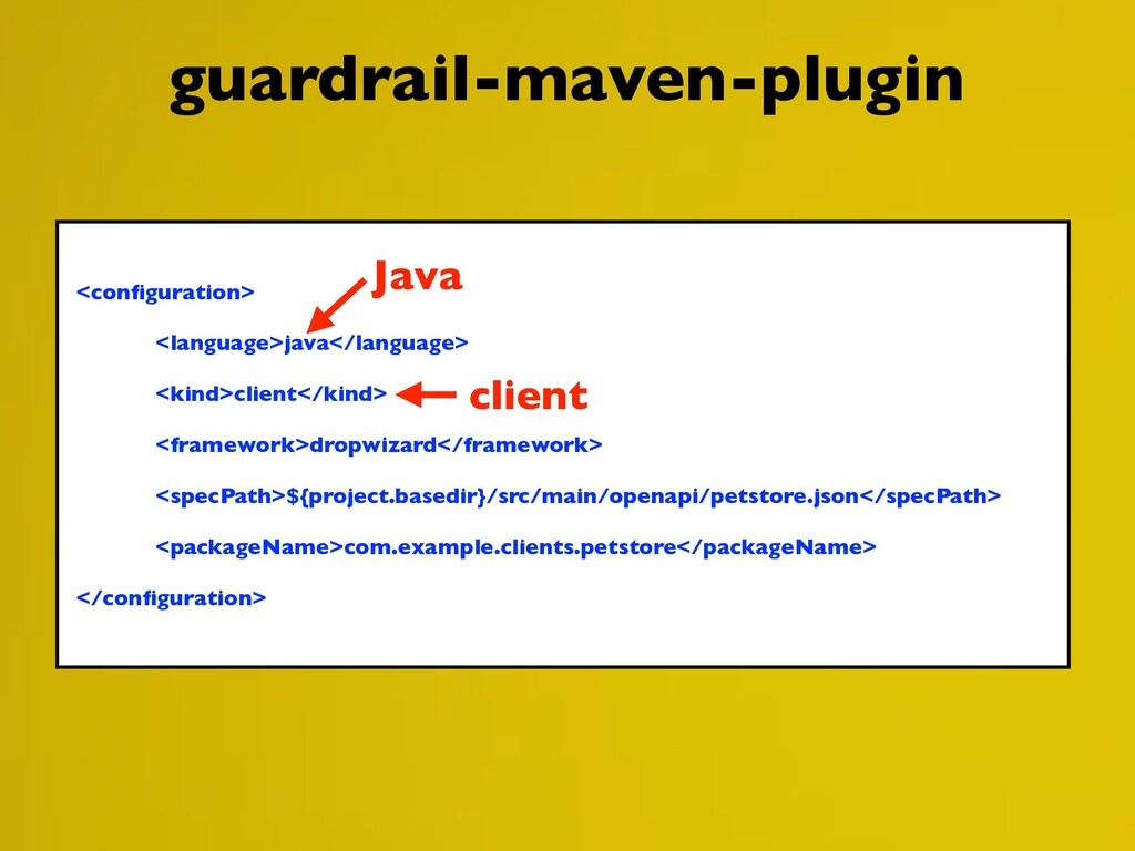 guardrail-maven-plugin <configuration> <language...