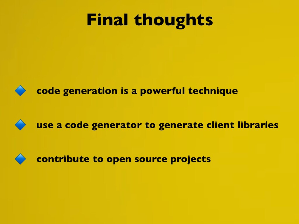 Final thoughts code generation is a powerful te...