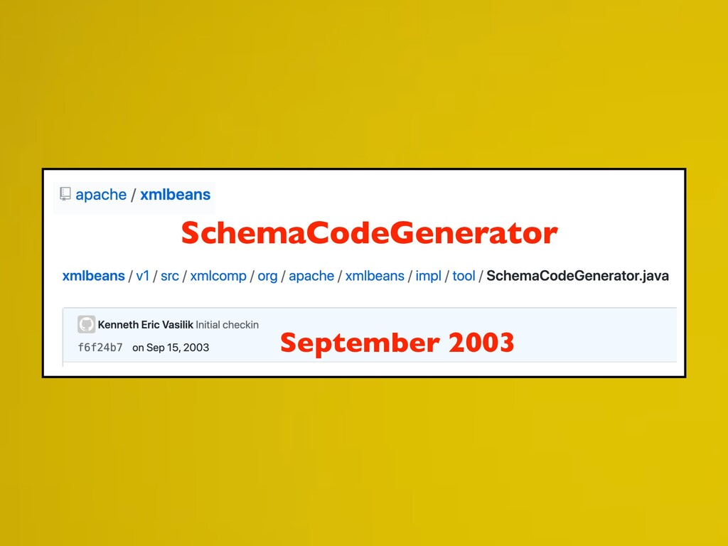September 2003 SchemaCodeGenerator