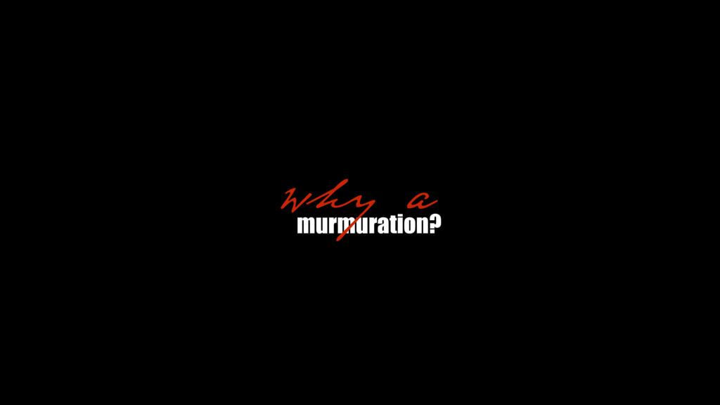 murmuration? why a