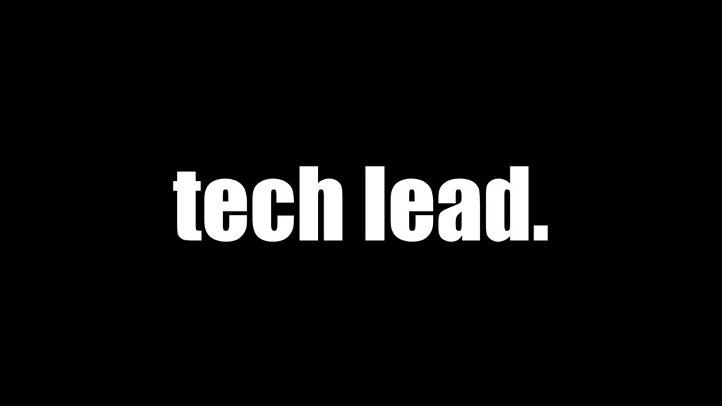 tech lead.