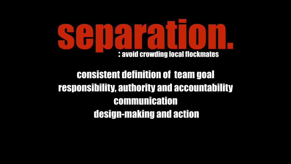 consistent definition of team goal responsibili...