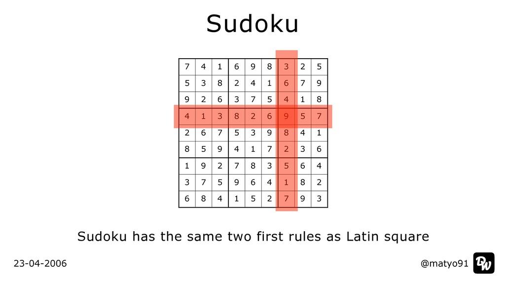 @matyo91 Sudoku Sudoku has the same two first r...
