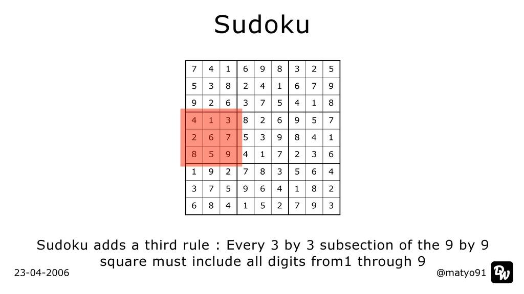 @matyo91 Sudoku Sudoku adds a third rule : Ever...