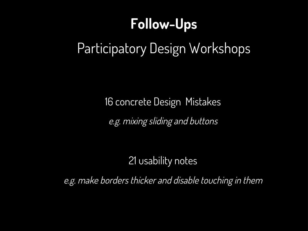 Follow-Ups Participatory Design Workshops 16 co...