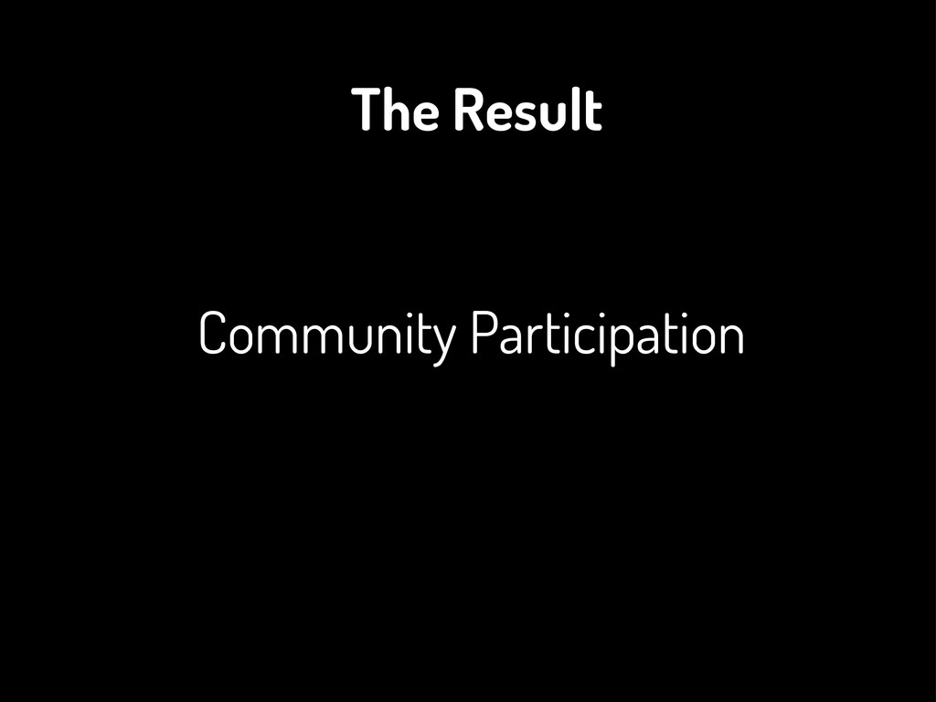 Community Participation The Result