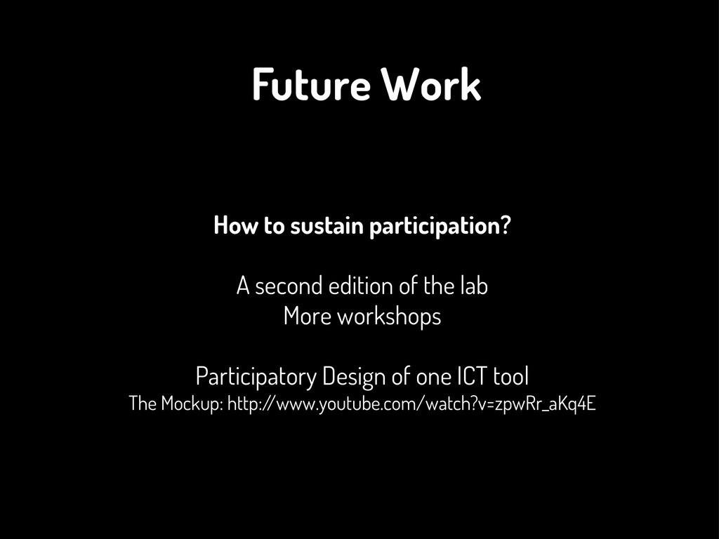 How to sustain participation? A second edition ...