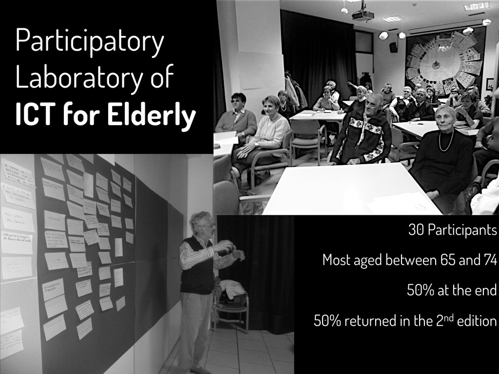 Participatory Laboratory of ICT for Elderly 30 ...